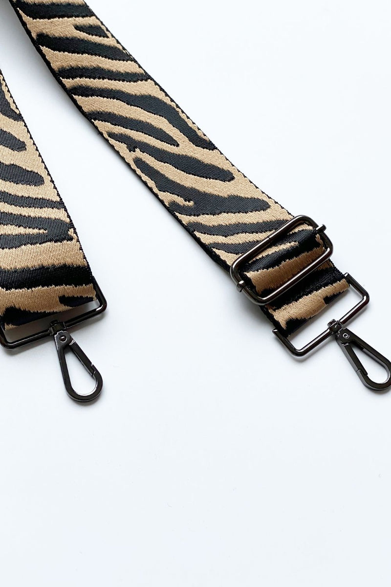 ZEBRA BAG STRAP - Black Hardware