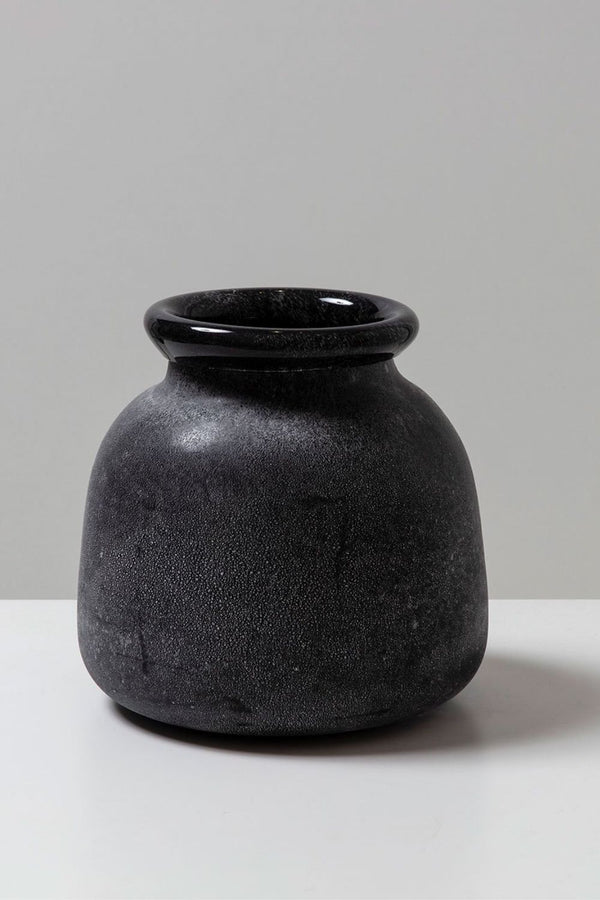 KAS - Byron Round Glass Vase - Black