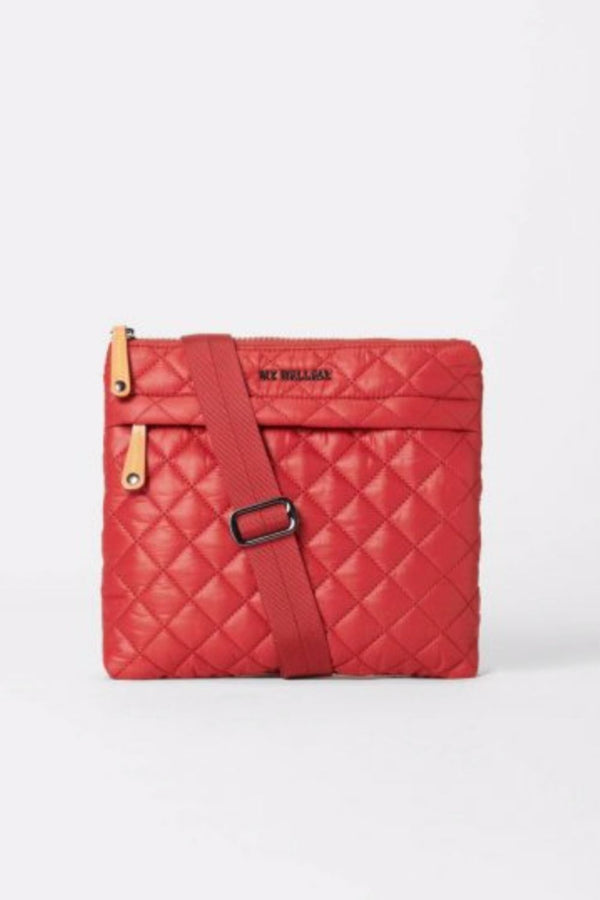 Metro Flat Crossbody-Red Dahlia