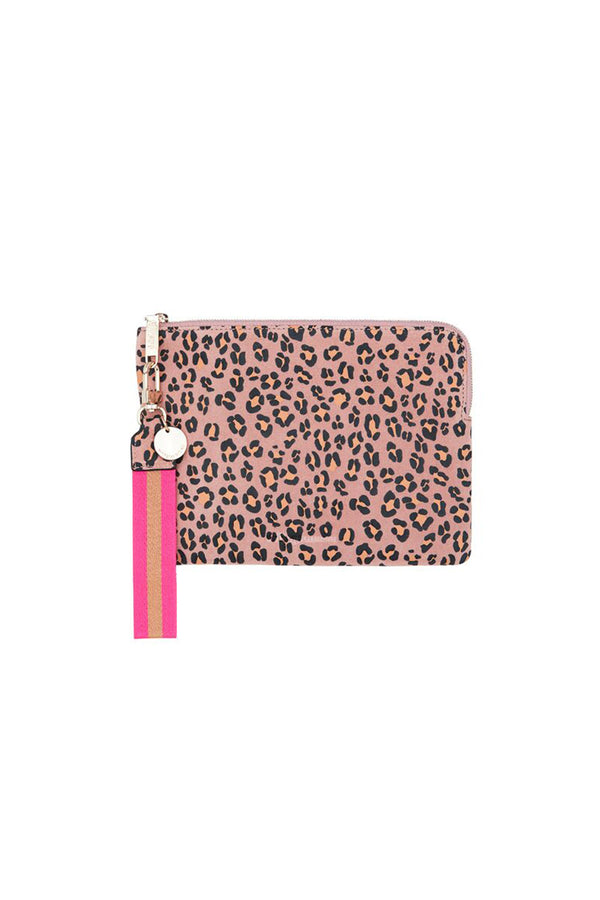 PAIGE CLUTCH PINK LEOPARD - CrateExpectations