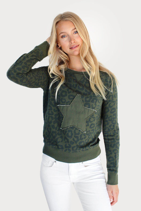 Full Leopard Star Cotton Windy - Khaki
