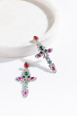 BLING CRYSTAL CROSS STUDS - CrateExpectations