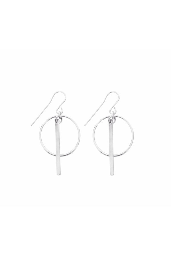 RING & BAR EARRING SILVER - CrateExpectations