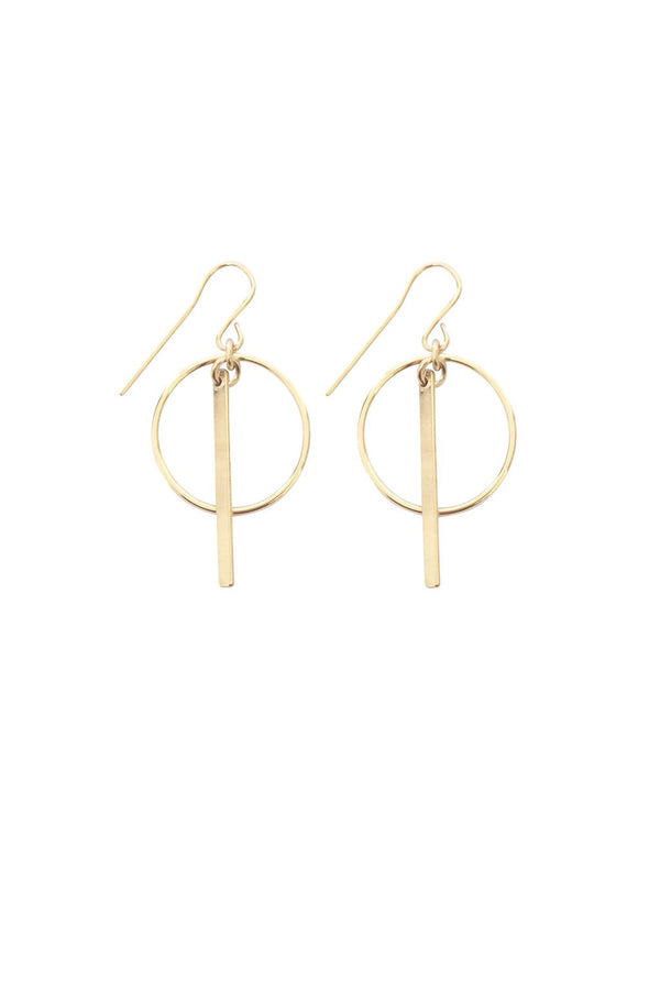 RING & BAR EARRING GOLD - CrateExpectations