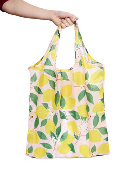 LEMON FOLD UP NYLON SHOPPER LARGE