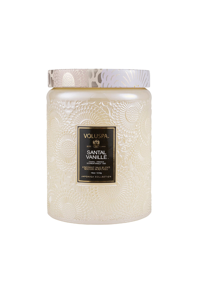 VOLUSPA SANTAL VANILLE 100hr  CANDLE + GLASS LID