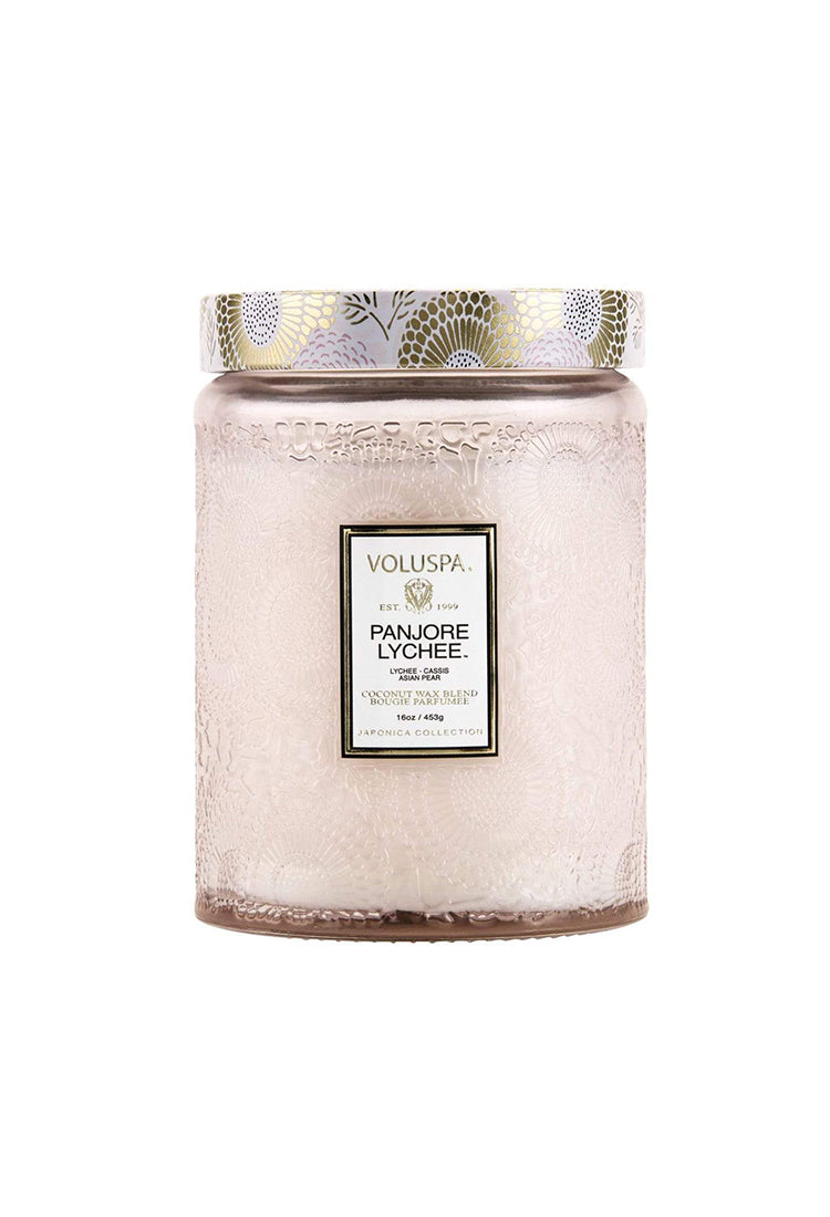 VOLUSPA PANJORE LYCHEE 100hr CANDLE + GLASS LID