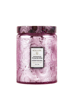 VOLUSPA JAPANESE PLUM BLOOM 100hr CANDLE + GLASS LID