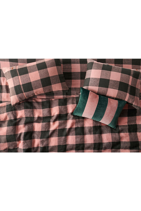 TUSCAN GINGHAM PILLOWCASES x 2