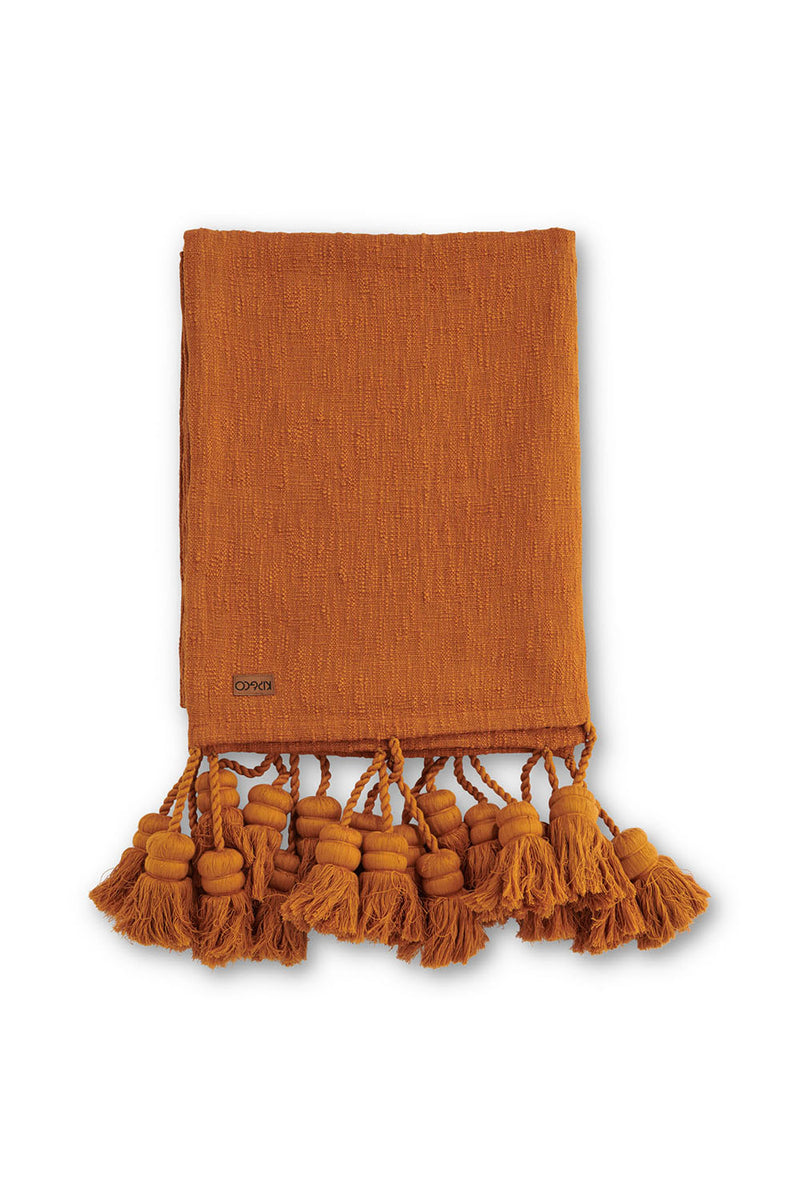INCA GOLD TASSEL THROW