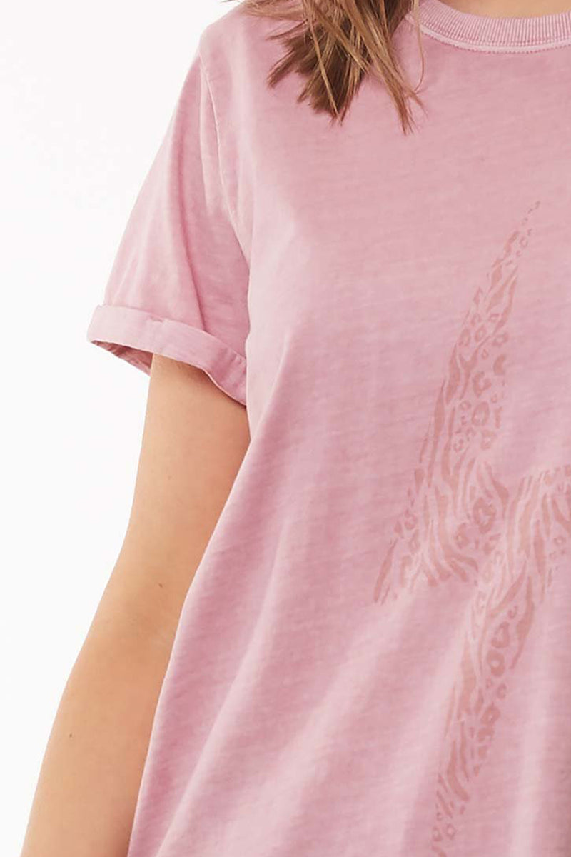 ELM - LIGHTENING BOLT TEE - ROSE