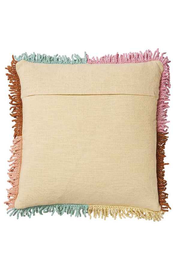KEZIAH PUNCH NEEDLE CUSHION - PISTACHIO