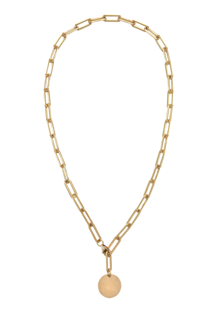 Heavy Chain Adjustable Choker - Gold