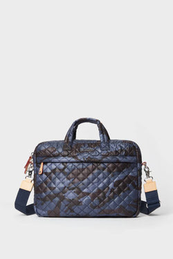 Blue Camo Quilted Metro Commuter bag