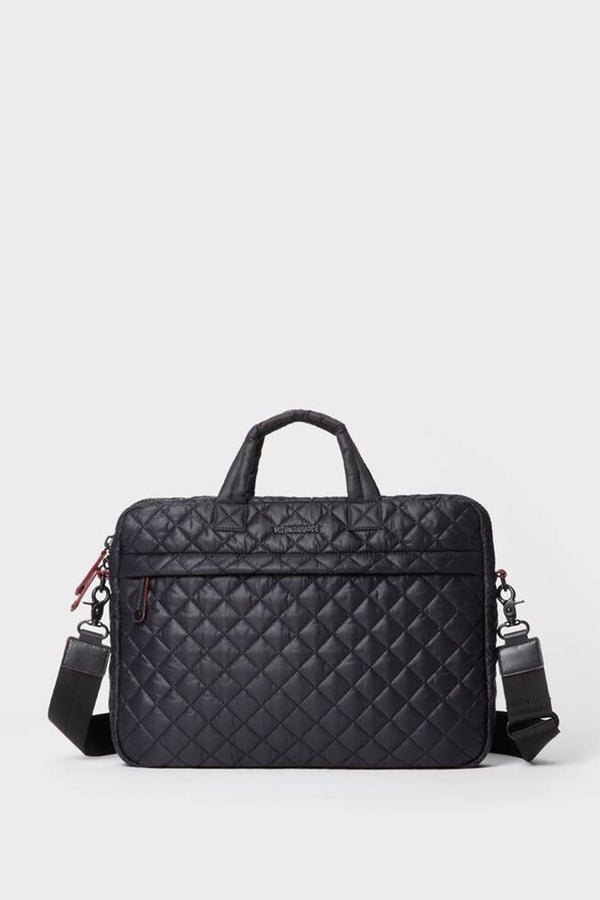 Black Quilted Metro Commuter bag