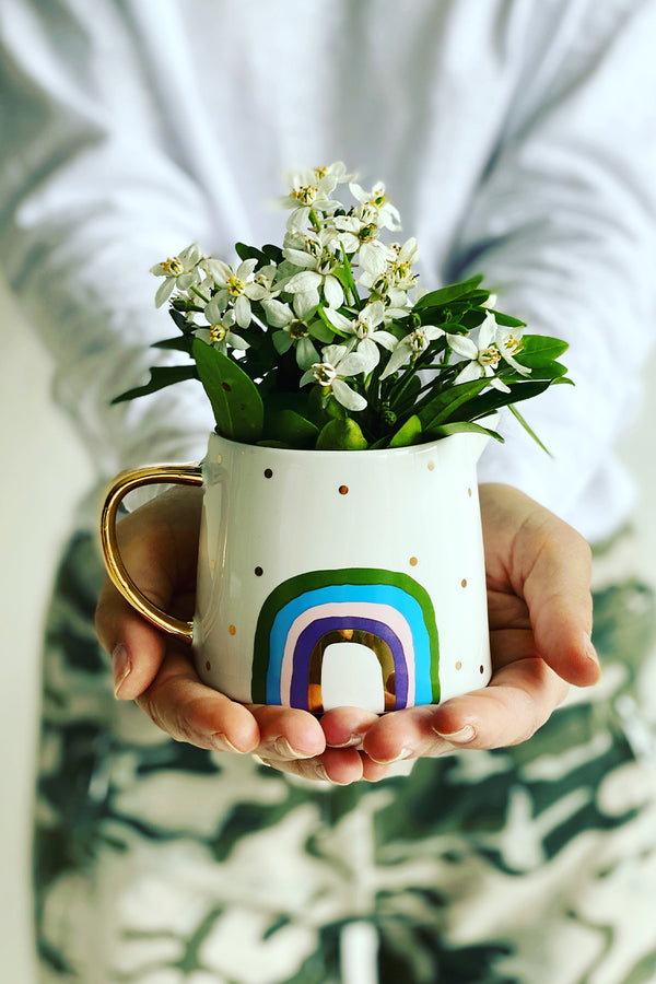MINI JUG - RAINBOW - WHITE