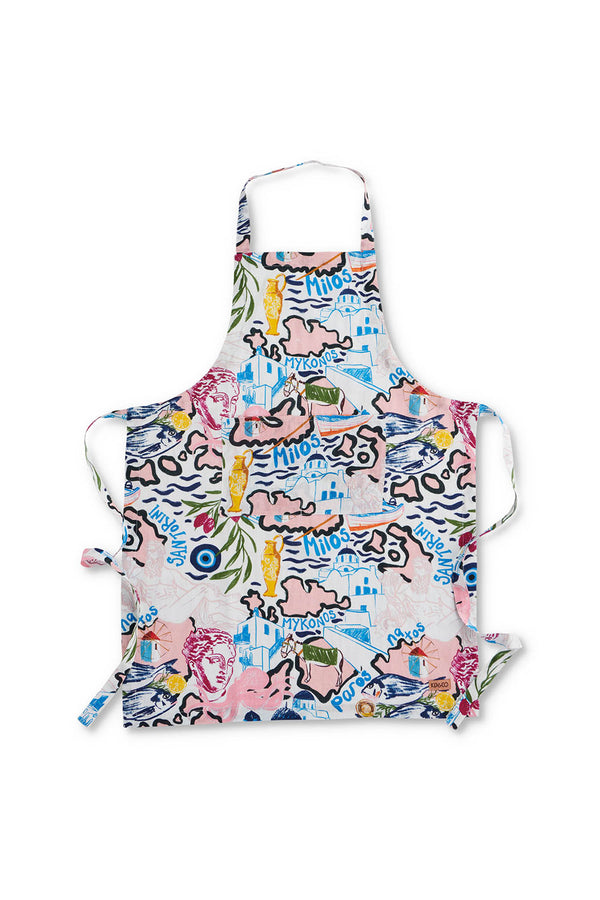 GREEK GODS LINEN APRON - ONE SIZE