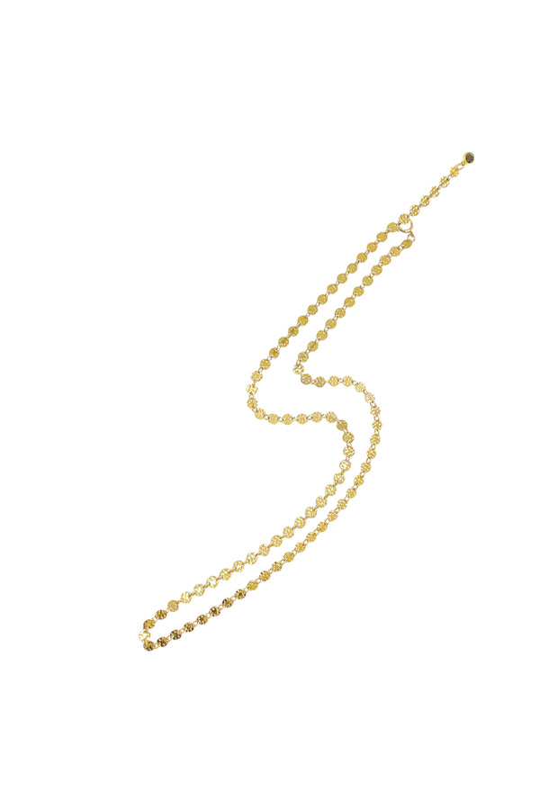 Emery Disc Chain Necklace - Gold