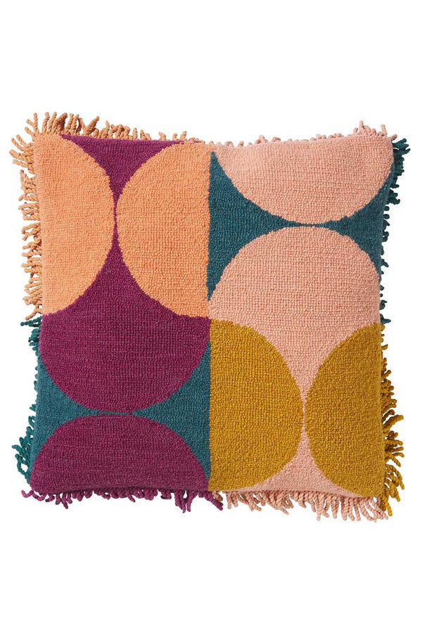 KEZIAH PUNCH NEEDLE CUSHION - PEACH