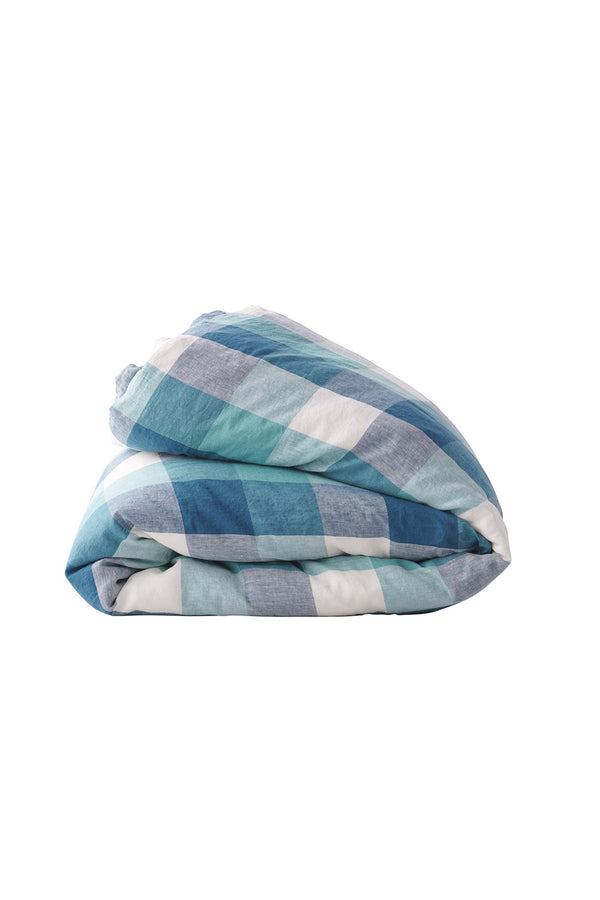Peacock Check Duvet Cover