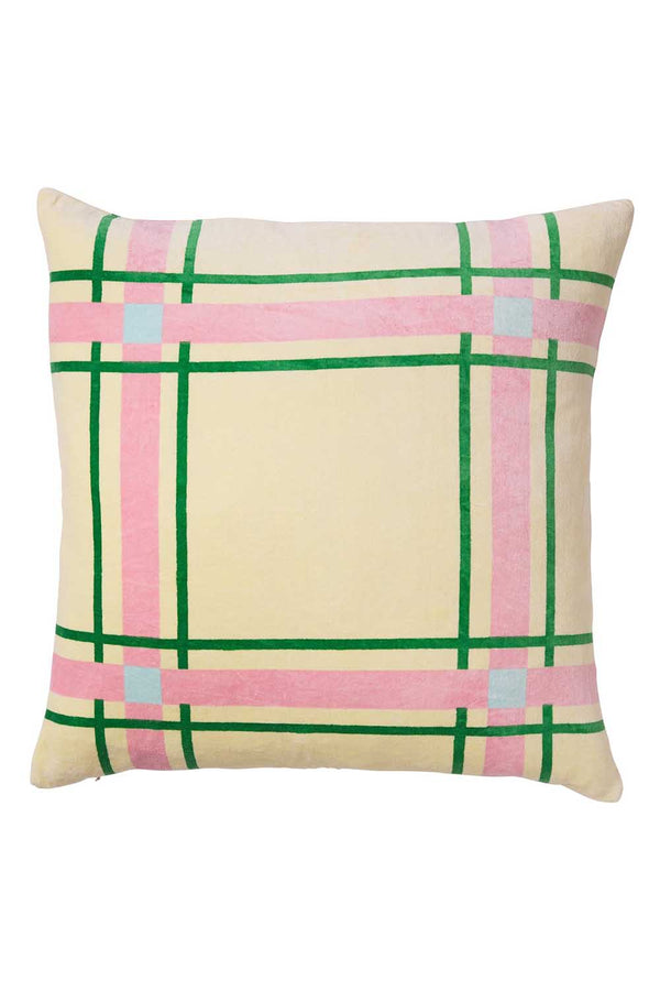 MATHIEU VELVET CUSHION - PISTACHIO