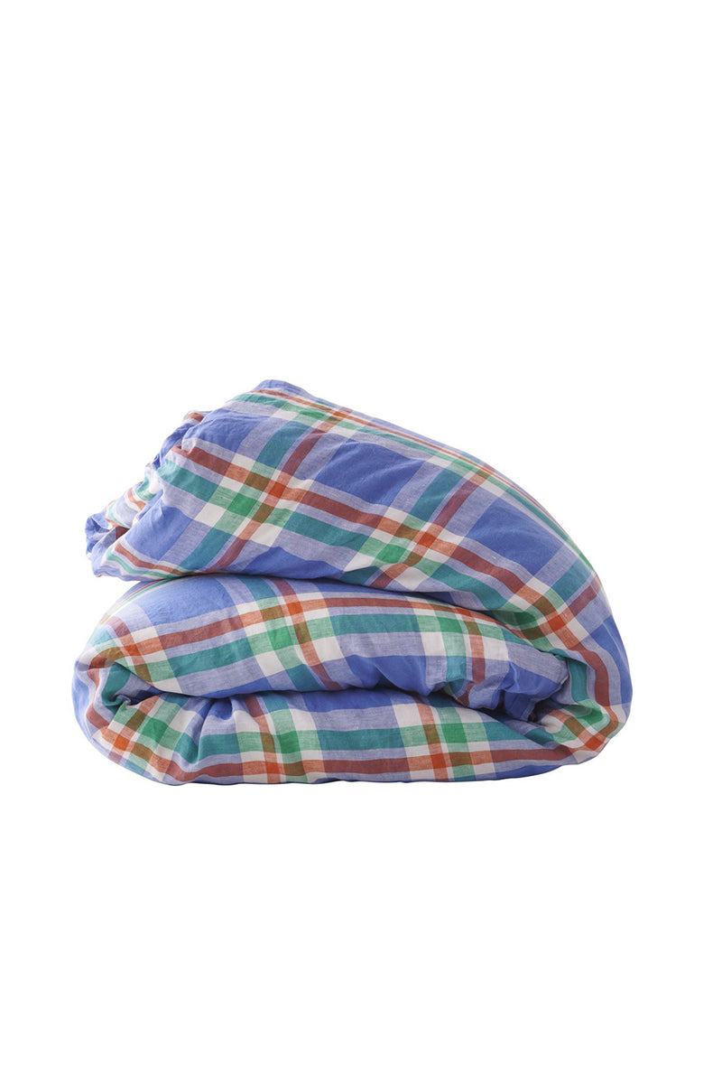 Cornflower Check Duvet Cover
