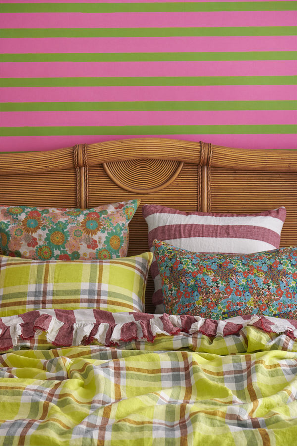 Citron Check Duvet Cover