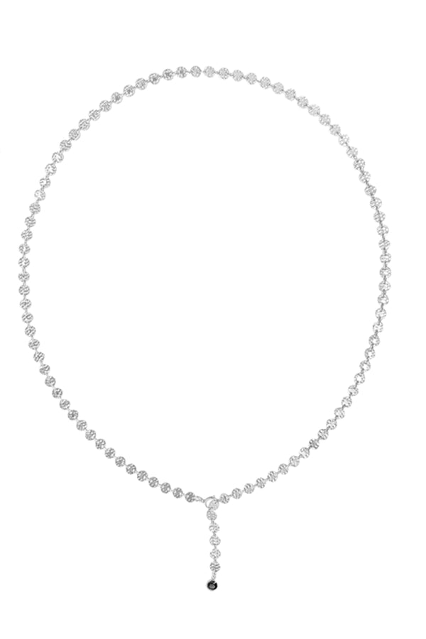 Emery Disc Chain Necklace - Silver