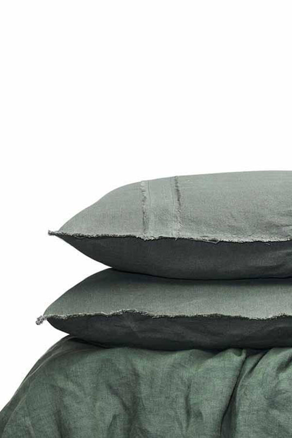 LINEN DUVET SET - KHAKI (PILLOWCASES INCL.) - CrateExpectations