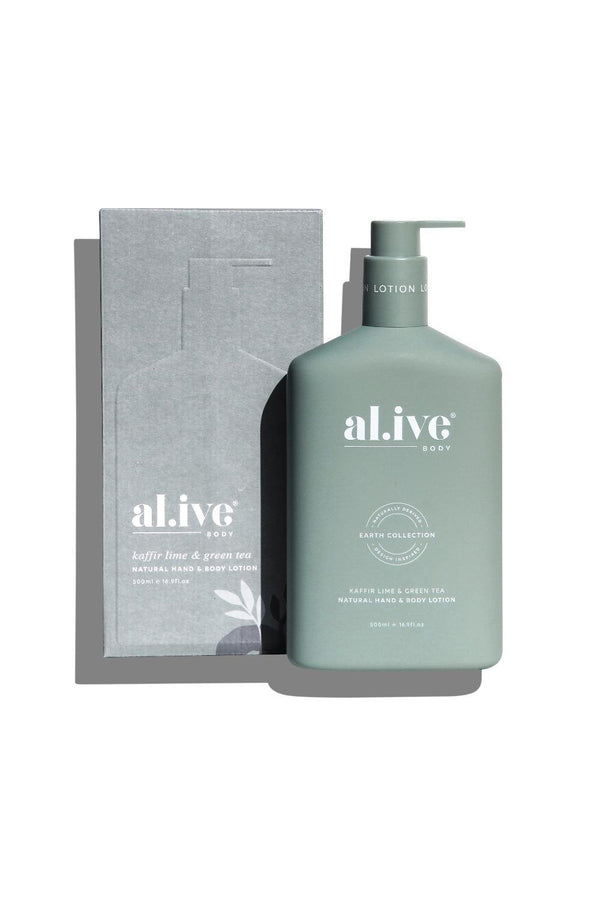 al.ive HAND & BODY LOTION - KAFFIR LIME & GREEN TEA
