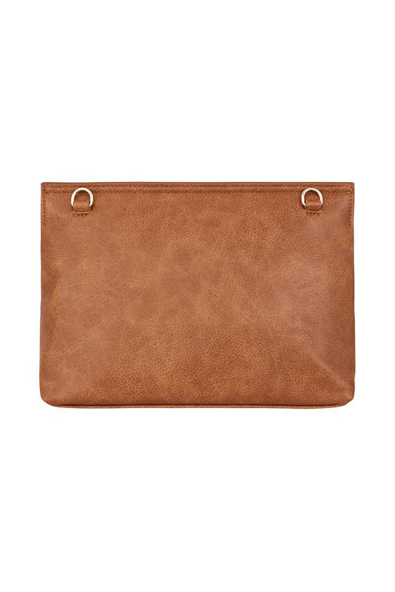 Amalfi Clutch - Tan Pebble - CrateExpectations