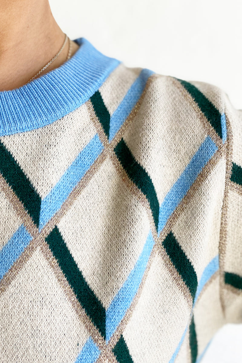 The Argyle Knit - Blue & Green