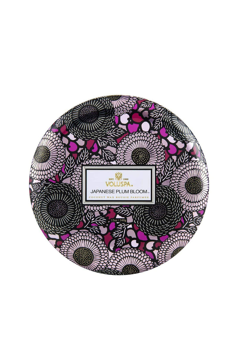 VOLUSPA JAPANESE PLUM BLOOM 3 WICK CANDLE - CrateExpectations