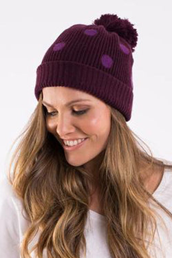 Elm Plum Circle Beanie - CrateExpectations