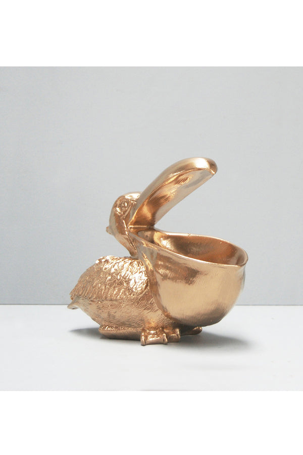 Peter the pelican bowl gold
