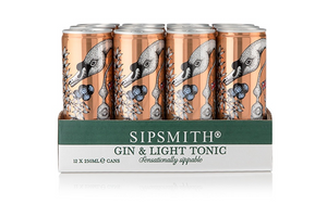 Sipsmith Gin & Tonic Light 12x250ml