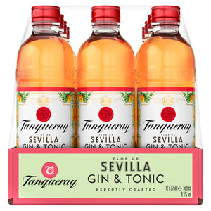 Load image into Gallery viewer, Tanqueray flor de sevilla Gin & Tonic premixed 12 x 275ml