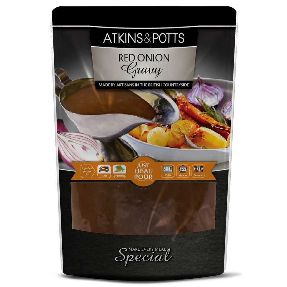 Atkins & Potts - Red Onion Gravy 350g