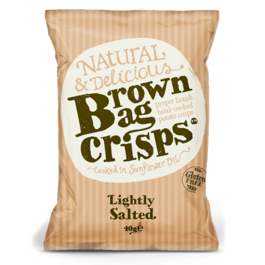 Brown Bag Crisps Lightly Salted - Small Bag