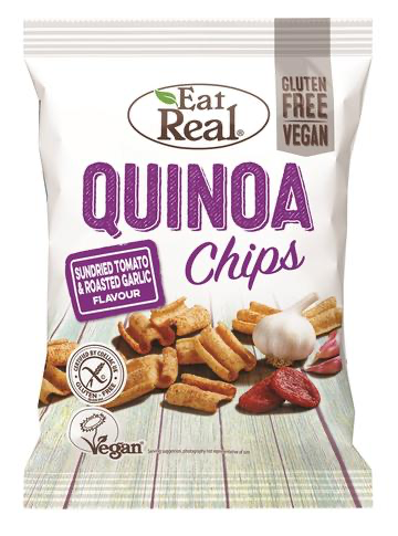 Tomato & Garlic Quinoa Chips