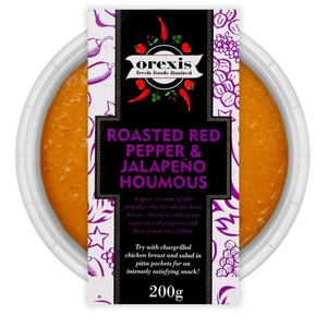 Roasted Red Pepper & Jalapeno Humous 200g