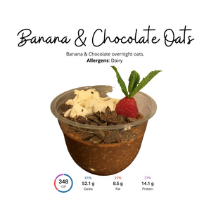 Load image into Gallery viewer, Banana & Chocolate Overnight Oats