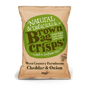 Brown Bag Cheddar & Onion - Large Bag