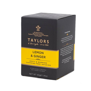 Load image into Gallery viewer, Taylors Lemon & Ginger Tea x20
