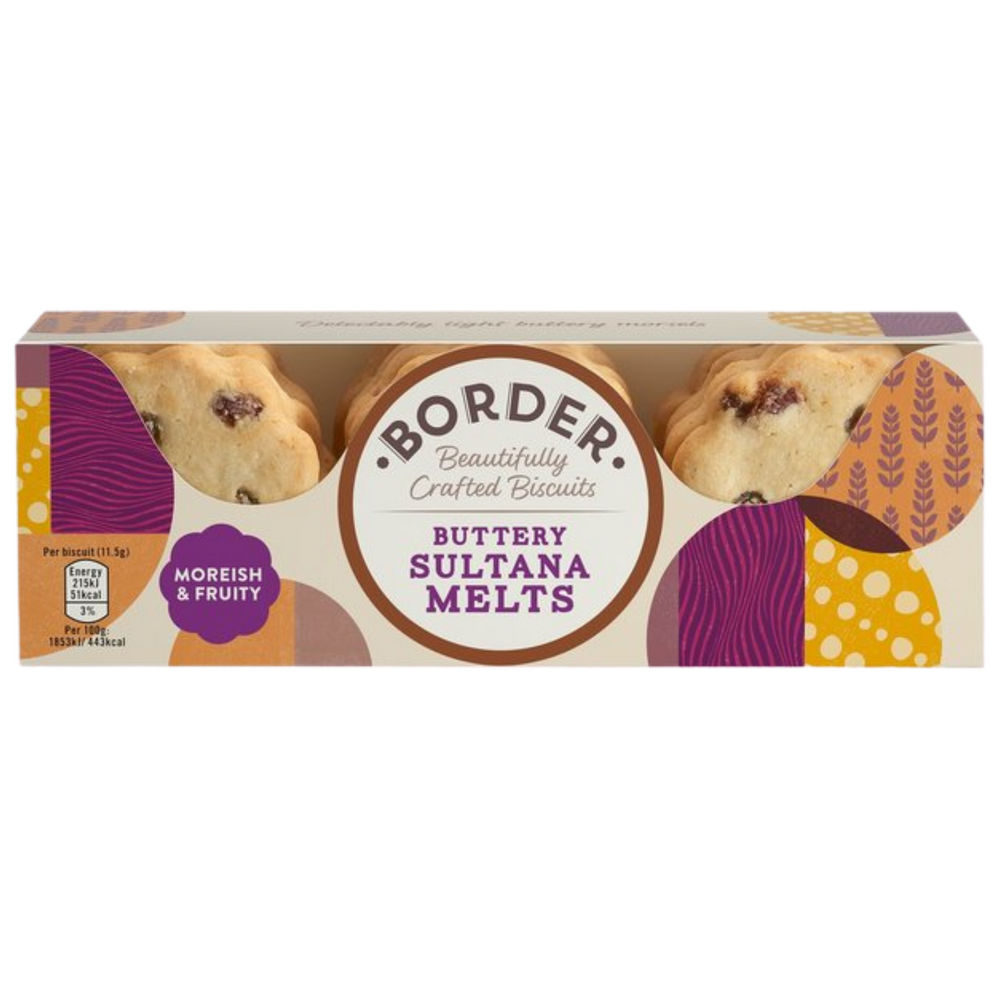 Borders Sultana Melt Biscuits