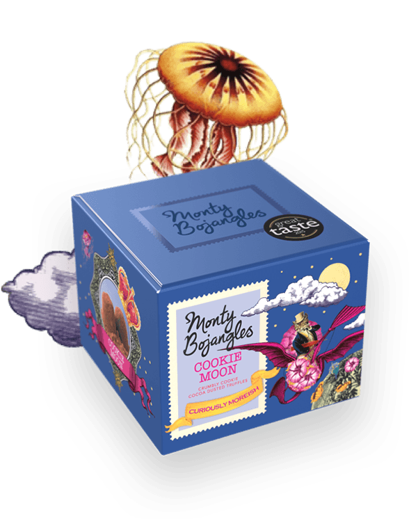 Load image into Gallery viewer, Monty Bojangles Cookie Moon Curious Truffles - 150g
