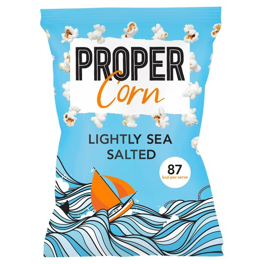 Proper Popcorn - Lightly Salted - Large Bag 70g