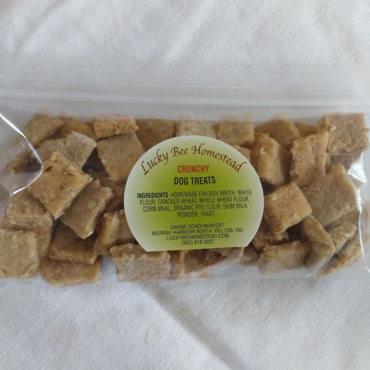 A bag of dog treats
