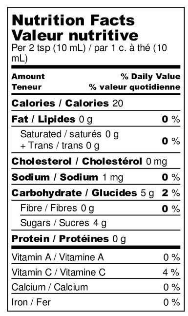Nutrition Fact Sheet