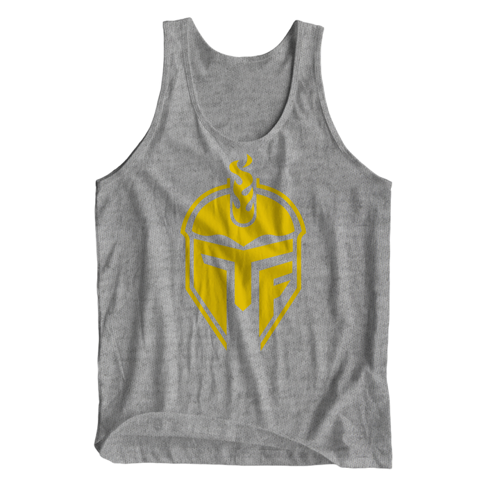 Titan Fuel Metallic Helmet Triblend Tank Top - The Titan Fuel